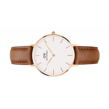 Womens watch - Classic Petite Durham Rose Gold 32 mm (white) - Daniel Wellington