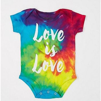 Love Is Love Tiedye Baby Bodysuit - Spencer's