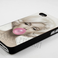 iPhone Case, iPhone 4/4s Case,iPhone 5 Case, Samsung Galaxy Case,Samsung S3,Samsung S4 -Marylin Monroe Bubble-Hard Plastic and Rubber