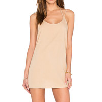 BLQ BASIQ Double Strap Mini Dress in Nude