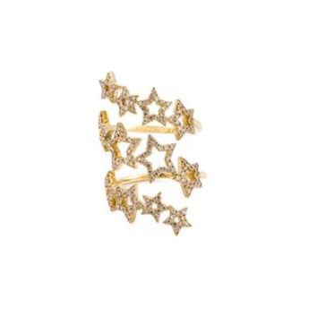 ROSA DE LA CRUZ | Yellow Gold & Diamond Triple Multi-star Ring | Womenswear | Browns Fashion