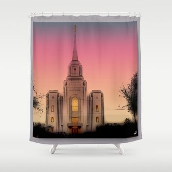 GLASS HOUSES Shower Curtain by Jessica Ivy