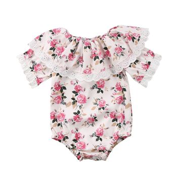 Melody Lace Floral Playsuit