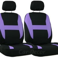 Mesh Purple Black LB Car Seat Cover 2