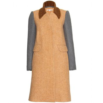 carven - alpaca and wool-blend coat