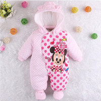 2017 New Newborn Baby Girl Clothes Winter Snowsuit Baby Boy Clothing Winter Baby Romper Baby Overalls Winter Overalls for Kids