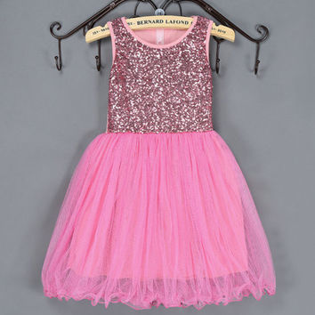 Gold Sequin Tutu Birthday Party Dress