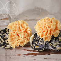 Sophisticate rosette collage clips Dolly & Me set from VioletsBuds