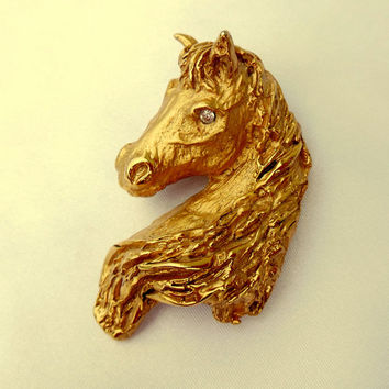 Horse Brooch Figural by Erwin Pearl Amazing Detail