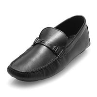 Versace Collection Men's Classic Leather Slip on Loafers Shoes