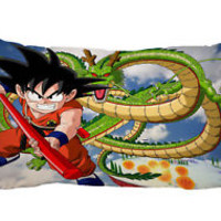 "Son Goku Dragon Ball Z Zippered Pillow Case 16""x24"" - 2 sides Cushion Cover"