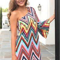 Karlie Scallop Chevron Dress