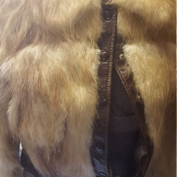 FAB 70's fur leather bomber project piece