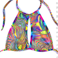 Acid Mesh Halter Top