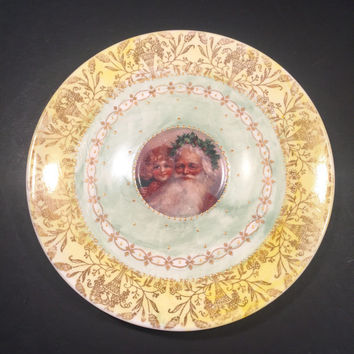 Olde World Santa China Saucer/Plate
