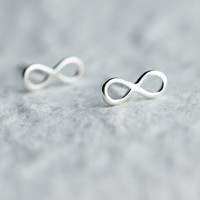 "925 Sterling silver cute ""∞â€?earrings,sweet cute ""∞â€?earrings,a perfect gift"