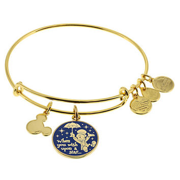 Disney Parks Jiminy Cricket Braceket Charm Bangle Alex & Ani Gold Finish New Tag