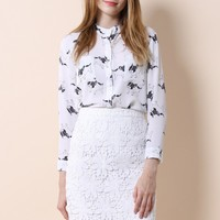 Lovely Bulldogs Crepe Shirt