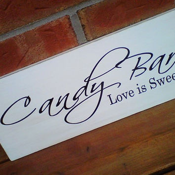 Wooden Sign Wedding Candy Bar by dressingroom5 on Etsy