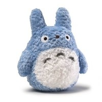 GUND Fluffy Blue Totoro, 8 inches