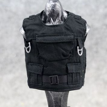 1:6 Scale Action Figure Toy Black Body armor / Tactical Vest Clothes