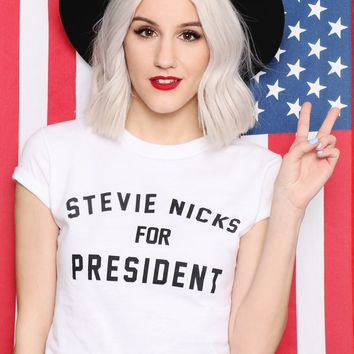 STEVIE NICKS FOR PRESIDENT TEE