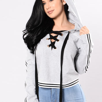 What Do You Expect? Top - Heather Grey