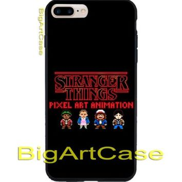 Stranger Things Pixel Art and Animation CASE iPhone 6s/6s+7/7+8/8+,X and Samsung
