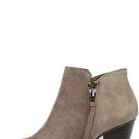 Chic Mystique Taupe Ankle Booties