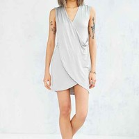 Silence + Noise Drapey Surplice Mini Dress-