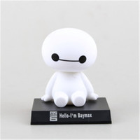 2017 Funko pop 12cm anime Big Hero 6 Baymax figma action & toy figures cute Car Head Shaking action figures Model Christmas Gift