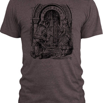 Big Texas Through the Looking Glass - Queen Alice (Black) Vintage Tri-Blend T-Shirt