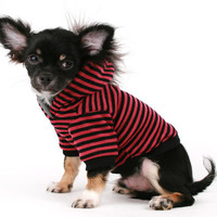 Dog Clothes Mohawk Pink and Black Stripe dog hoodie sweater