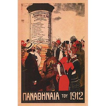 panathanea THEATRE greece 1912 24X36 fashion ladies and gents RETRO HOT NEW