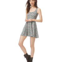 Aeropostale Womens Sketched Floral Dress - Black,