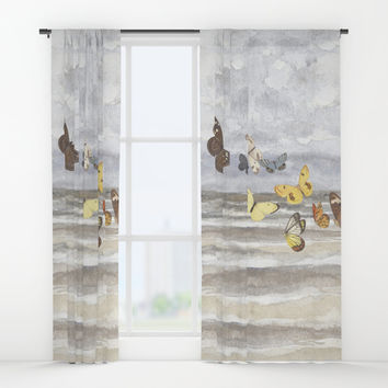 Butterfly escape Window Curtains by anipani