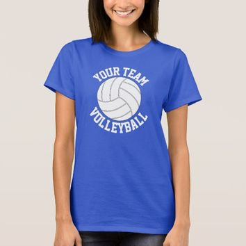 Royal Blue Volleyball Custom Team Name T-shirt