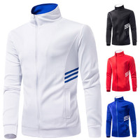 Turtle Neck Zip Up Running Sweat Jacket