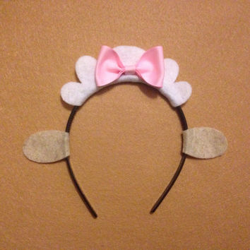 1 Sheep with bow Theme Headbands birthday party favors supplies decor costume hat doc Mcstuffin doctor adult child children baby babies kid