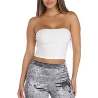 White Hot Gossip Tube Top