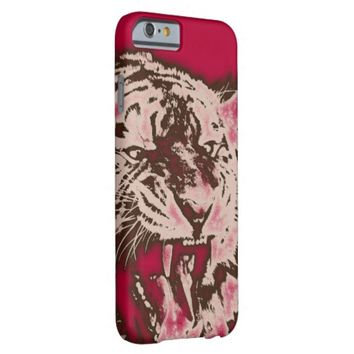 Grunge Burgundy Abstract Tiger Barely There iPhone 6 Case