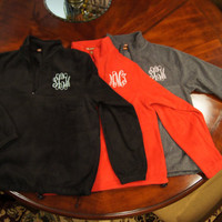 Monogrammed Fleece Half-Zip