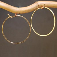 Hoop Earrings - Large - Gold