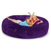 Relax Sack 8 ft. Microsuede Foam Bean Bag Sofa | www.hayneedle.com