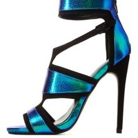 Privileged for CR Caged Iridescent Heels