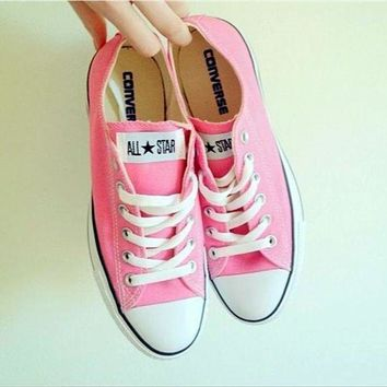 VONR3I Adult Converse All Star Sneakers Low-Top Leisure shoes Pink