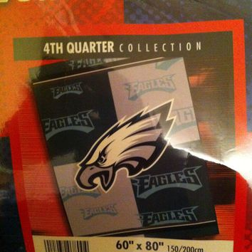 PHILADELPHIA EAGLES  60 X 80 STADIUM BLANKET 4TH QUARTER SHIPPING!