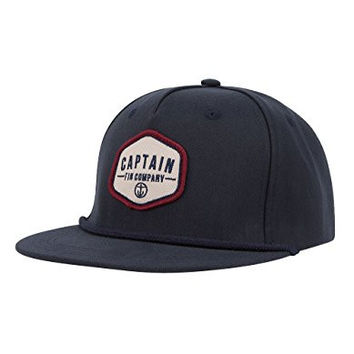 CAPTAIN FIN Classical Mens Snapback Hat, Navy