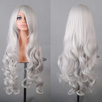 Cosplay Wig Angel Sanctuary Gibel Silver White Long Hair