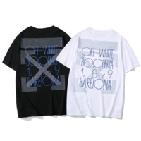 Off White Fashion New Bust And Back Diamond Cross Letter Arrow Women Men Sports Leisure Top T-Shirt